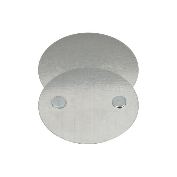 brennenstuhl Zubehör Rauchmelder BR 1000 Magnet-Befestigungs-Set Befestigungsplatte mit 2 Magneten, Trägerplatte 70mm