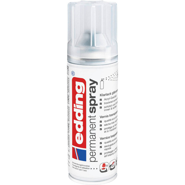 EDDING Spraydosen 5200-994 Klarlack glänzend 200ml, edding 5200