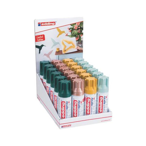 Edding Spraydosen 4-52325 Trendfarben 2 sortiert permanent, edding 5200