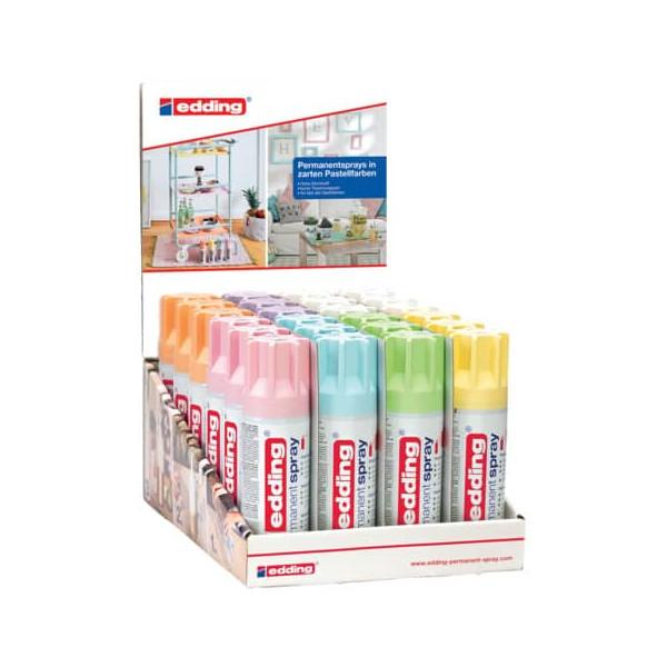 Edding Spraydosen 4-52353 farbig sortiert pastell permanent, edding 5200
