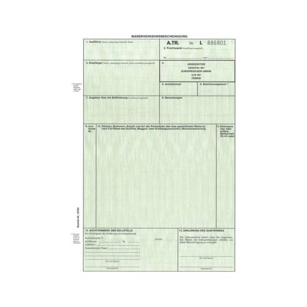 RNK Warenverkehrsbescheinigung für Türkei 2273 A4