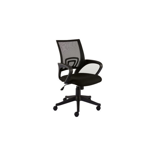 STAPLES Bürostuhl Felucca, Netzrücken, schwarz, mit Armlehnen, Stoff, schwarz