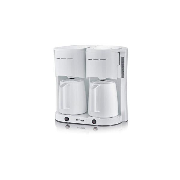 SEVERIN Kaffeemaschine, KA 5830 Duo, 2 x 1 l, für: 2 x 8 Tassen, weiß