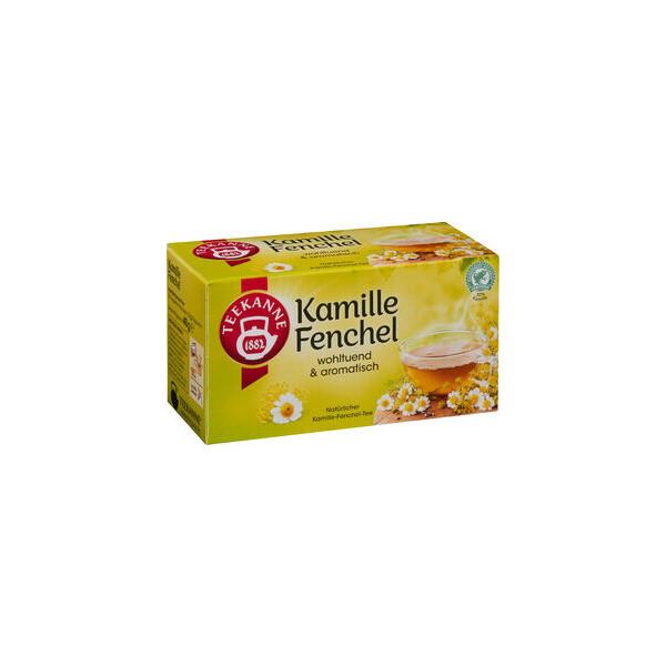TEEKANNE Kräutertee Kamille-Fenchel, Beutel, 20 x 2 g