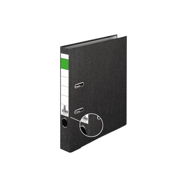 Ordner Economy 50mm DIN A4 Werkstoff: Pappe, recycelt Material der Kaschierung außen: Papier Material der Kaschierung innen: Pa