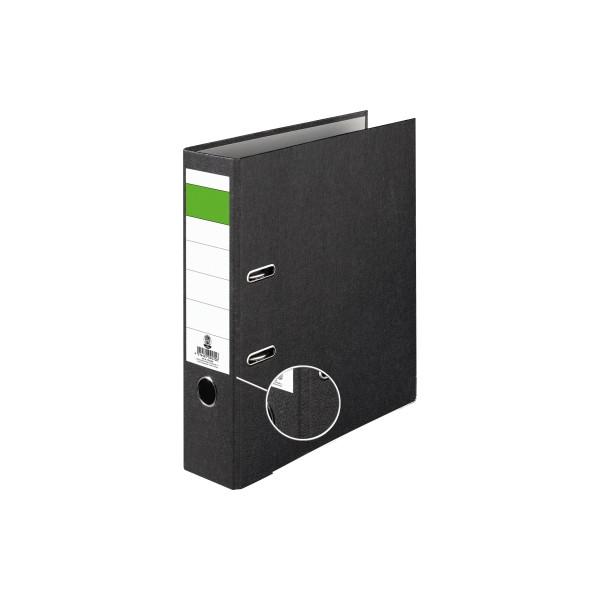 Ordner Economy 80mm DIN A4 Werkstoff: Pappe, recycelt Material der Kaschierung außen: Papier Material der Kaschierung innen: Pa