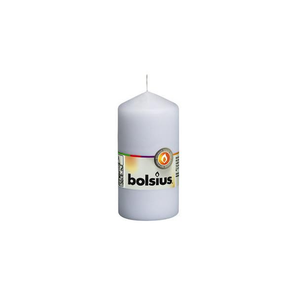 bolsius Kerze, Stumpen, Ø: 5,8 cm, L: 12 cm, weiß