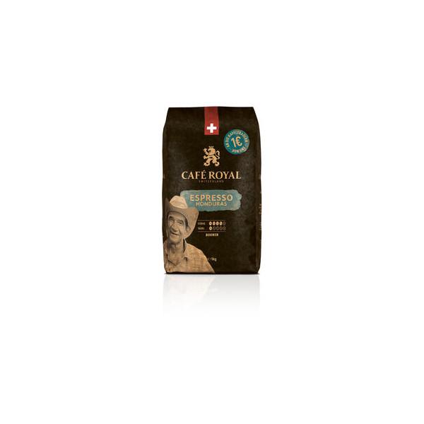 CAFÉ ROYAL Kaffee CREMA HONDURAS, koffeinhaltig, ganze Bohne, 4 x 1 kg