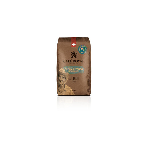 CAFÉ ROYAL Kaffee CREMA INTENSO HONDURAS, kräftig-würzig, ganze Bohne, 4 x 1 kg