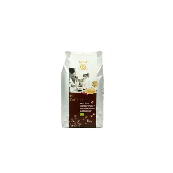 GEPA Kaffee Bio Caffè Crema, koffeinhaltig, ganze Bohne, 4 x 1.000 g