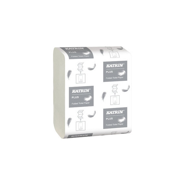 KATRIN Toilettenpapier Bulk Pack Plus, 2lg., Einzelbl., 10,3 x 23 cm, weiß