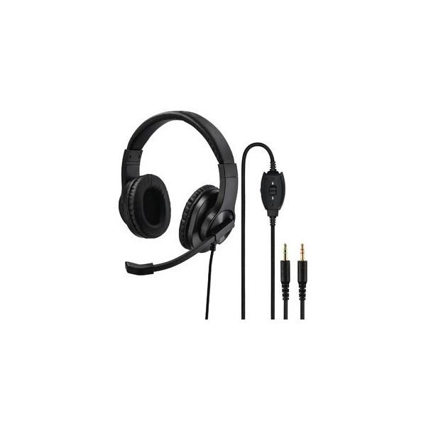 hama Headset HS-P300, Stereo, 2 x 3,5 mm-Klinkenstecker, Kabellänge: 2 m