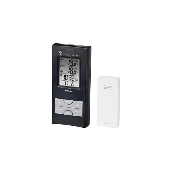 hama Wetterstation EWS-165, Funk, digitale Anzeige, schwarz/silber