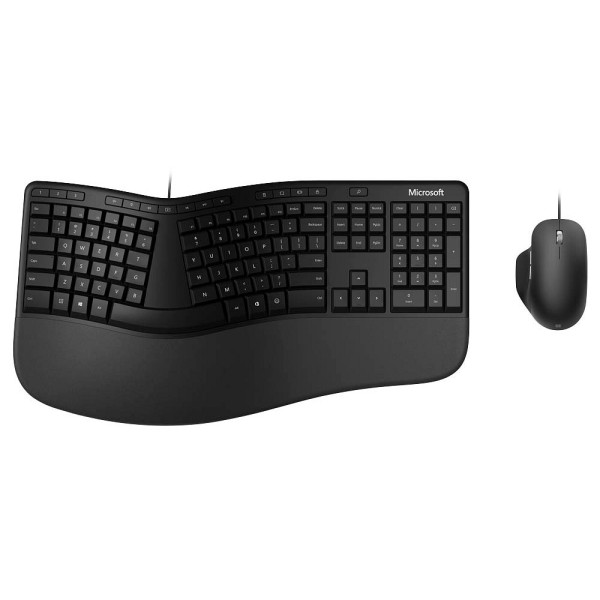 Microsoft Tastatur-/Mausset Ergonomic, ergonomisch, QWERTZ, USB, schwarz