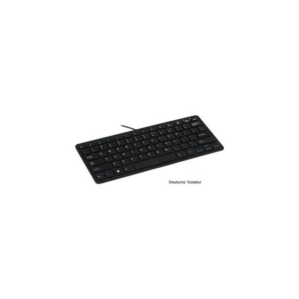 R-GO TOOLS Tastatur R-Go Compact, ergonomisch, QWERTZ, USB, schwarz