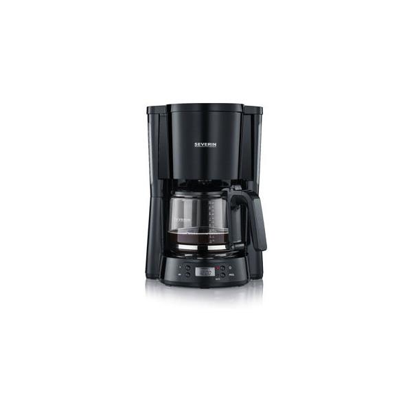 SEVERIN Kaffeemaschine Type, mit: Glaskanne, 1,25 l, für: 10 Tassen, schwarz