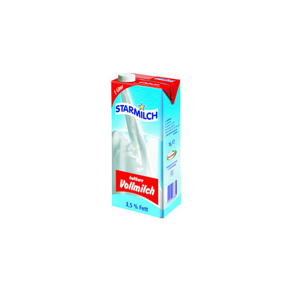 STARMILCH H-Milch, 3,5 %, Packung, 12 x 1 l