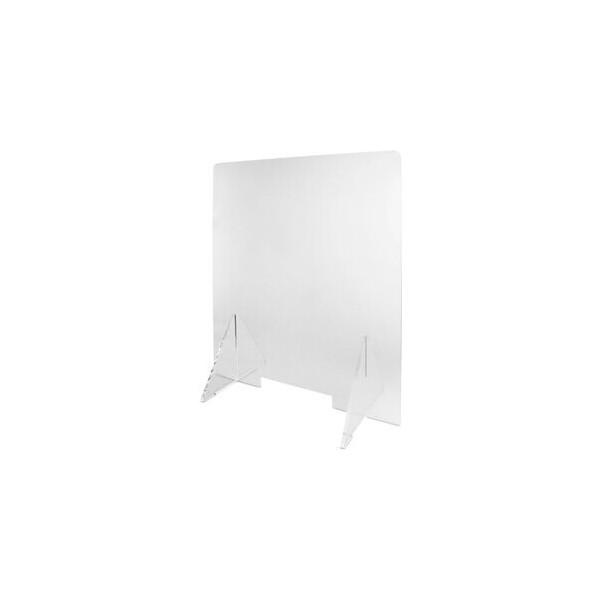 tarifold Schutzschild, mit Durchreiche, Acryl, 600 x 300 x 650 mm, farblos