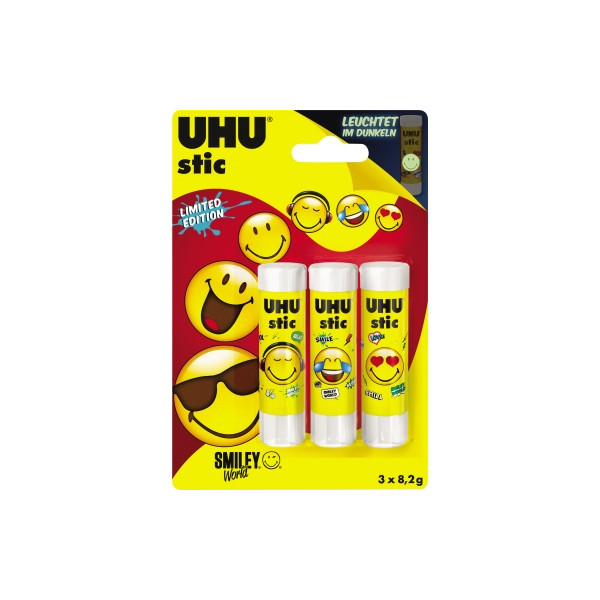 UHU Klebestift stic SMILEY 53915 8,2g 3 St./Pack.