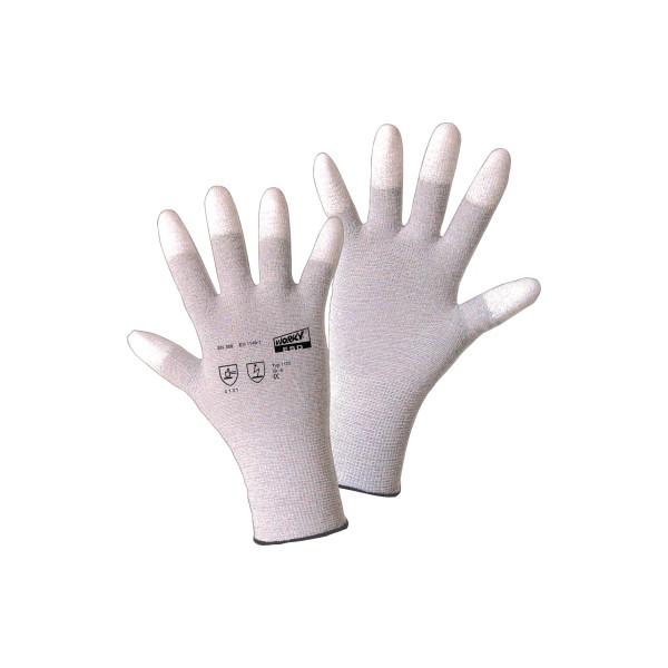 WORKY Handschuh ESD TIP 1170-7 Nylon/Carbon/PU Größe7 1Paar