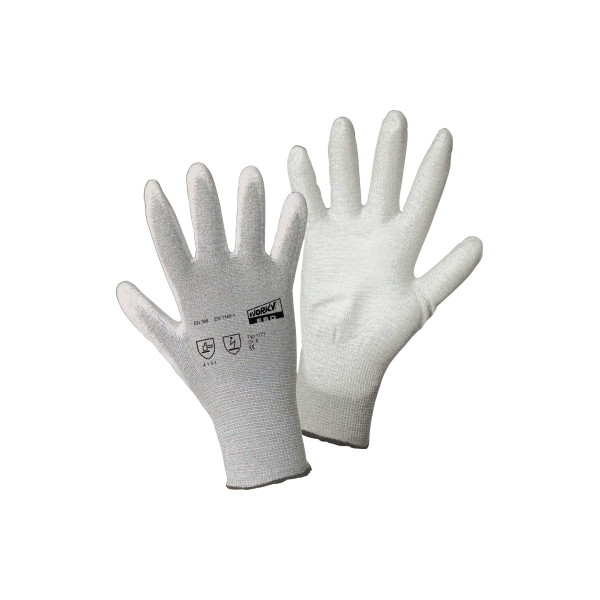 WORKY Handschuh ESD PALM 1171-10 Nylon/Carbon/PU Gr10 1Paar