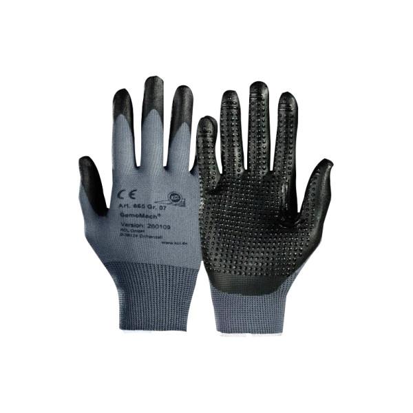 KCL Handschuh GemoMech 665 Nitril Polyurethan Größe 9 L 1 Paar