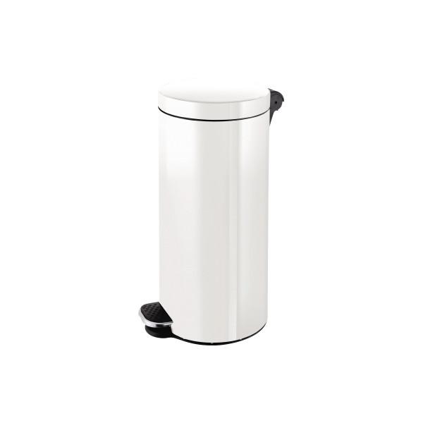 helit Tretabfalleimer H2404305 Silberionen 30l weiß