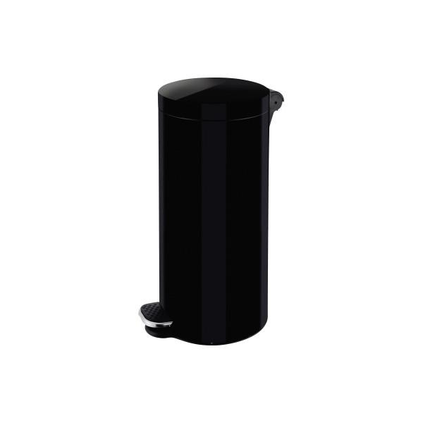helit Tretabfalleimer H2404395 Silberionen 30l schwarz