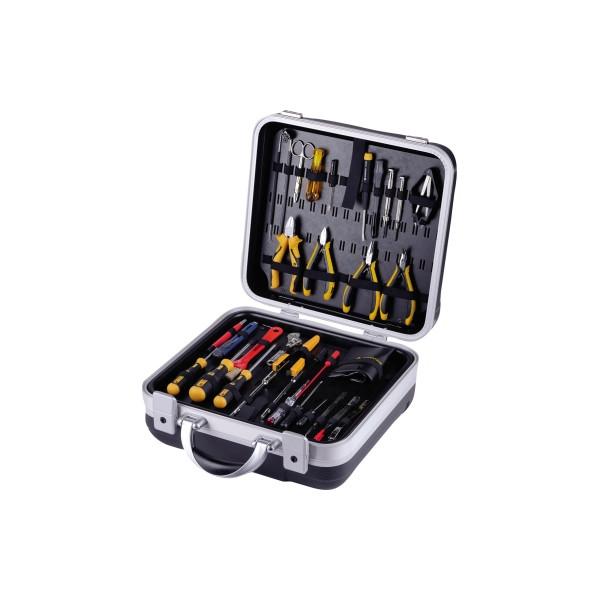 BERNSTEIN Werkzeugkoffer Elektriker 1500 41teilig schwarz