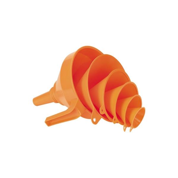 PRESSOL Trichtersatz 02372 043 PE 6teilig orange