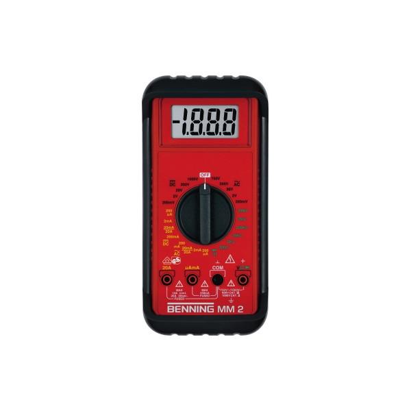 BENNING Multimeter MM 2 044028 0,1mV-1000V DC 0,1 mV-750V AC