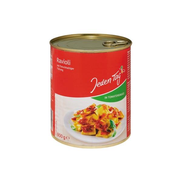 Jeden Tag Fertiggericht Ravioli in Tomatensauce 800g 6St.