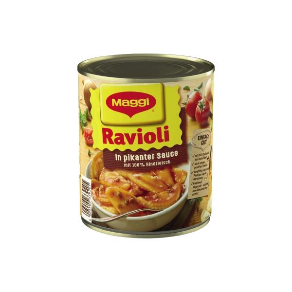 Maggi Fertiggericht Ravioli in pikanter Sauce 800g 6St.