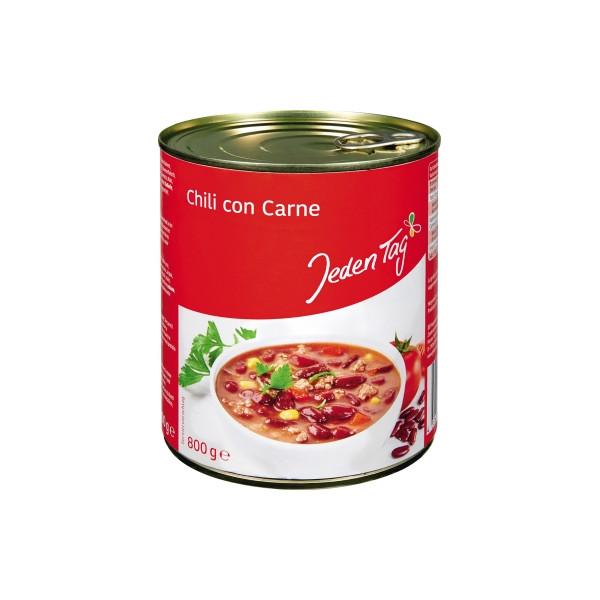 Jeden Tag Fertiggericht Chili Con Carne 800g 6St.