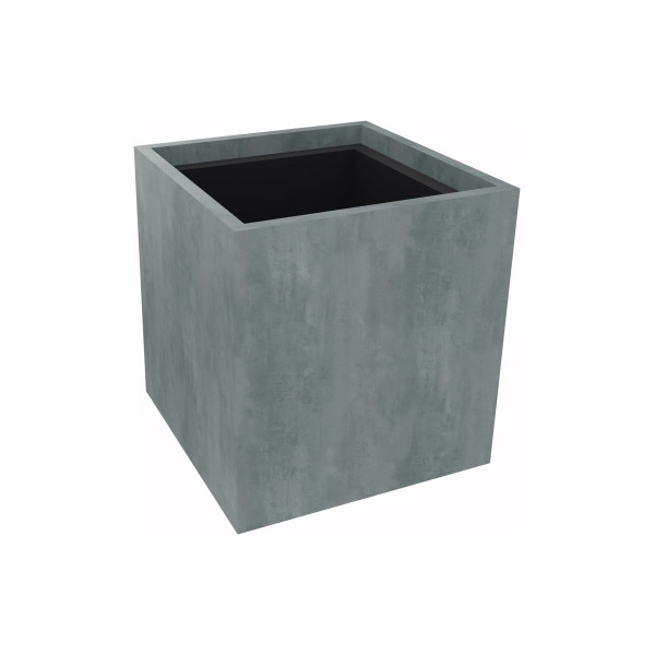 Pflanzgefäß 1er niedrig B380xT380H400mm Beton