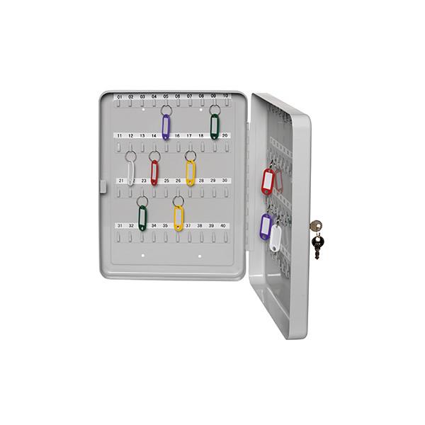 Alco Schlüsselkasten 891 30 Haken grau Zylinderschloss
